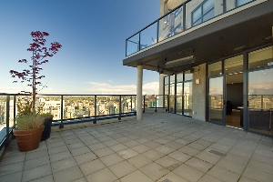 Brava Penthouse! Fully Upgraded No Expense Spared! – 3202-1199 Seymour Street, The Brava Penthouse in Downtown Vancouver with a huge balcony