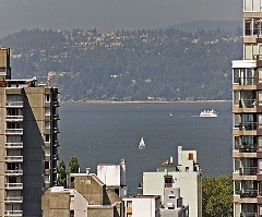Direct English Bay Views, 2 Bdrm Corner Suite at The 501 in Yaletown!