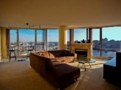 1706 1033 Marinaside Crescent: DIRECT WATER VIEWS of False Creek 2 bdrm with balcony at the Stylish Quaywest I.