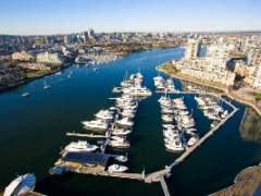 Amazing False Creek Water Views from the Largest 2 bedroom Floor Plan at Quaywest