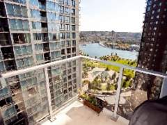 VIEWS of False Creek and George Wainborn and David Lam with Immaculate 1 bedroom and Den Home