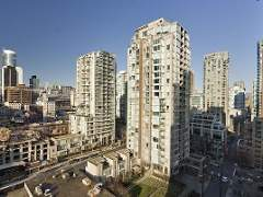 Bright 2 Bedroom with Large West Facing Balcony at The Domus in Yaletown, Downtown Vancouver.