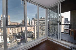 Mountain View Corridor, 1 Bedroom + Den at The Brava in Downtown Vancouver's Trendy Yaletown
