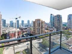Large Sunny 1 Bedroom and Den at the Freesia in Downtown Vancouver