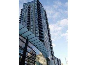 Sunset Views in this North West Corner 1 Bedroom with Solarium + Den at The Brava in Yaletown, Downtown Vancouver.
