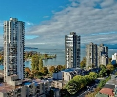 1606-1003 Pacific Street : Water View from 1 Bedroom Condo Suite in Vancouver's West End | Vancouver West