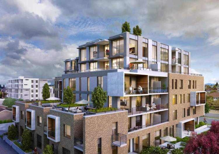 Coco is solid, concrete built, featuring 1- to 3-bedroom homes including three luxury townhomes.