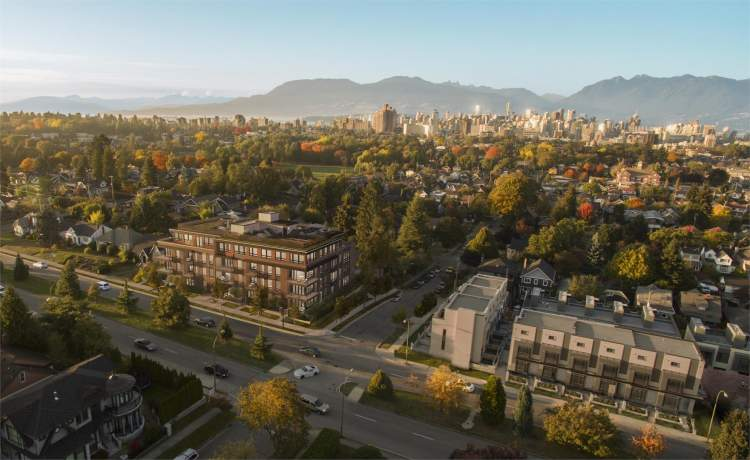 Amber Douglas Park Condo and Townhouse development in Vancouver's westside
