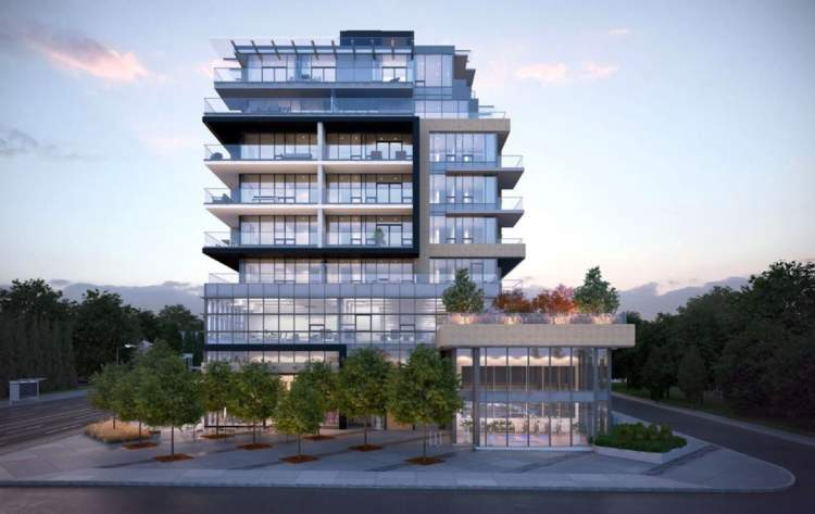 Rendering of Coromandel's Winston, as seen from the south side on 67th Avenue.