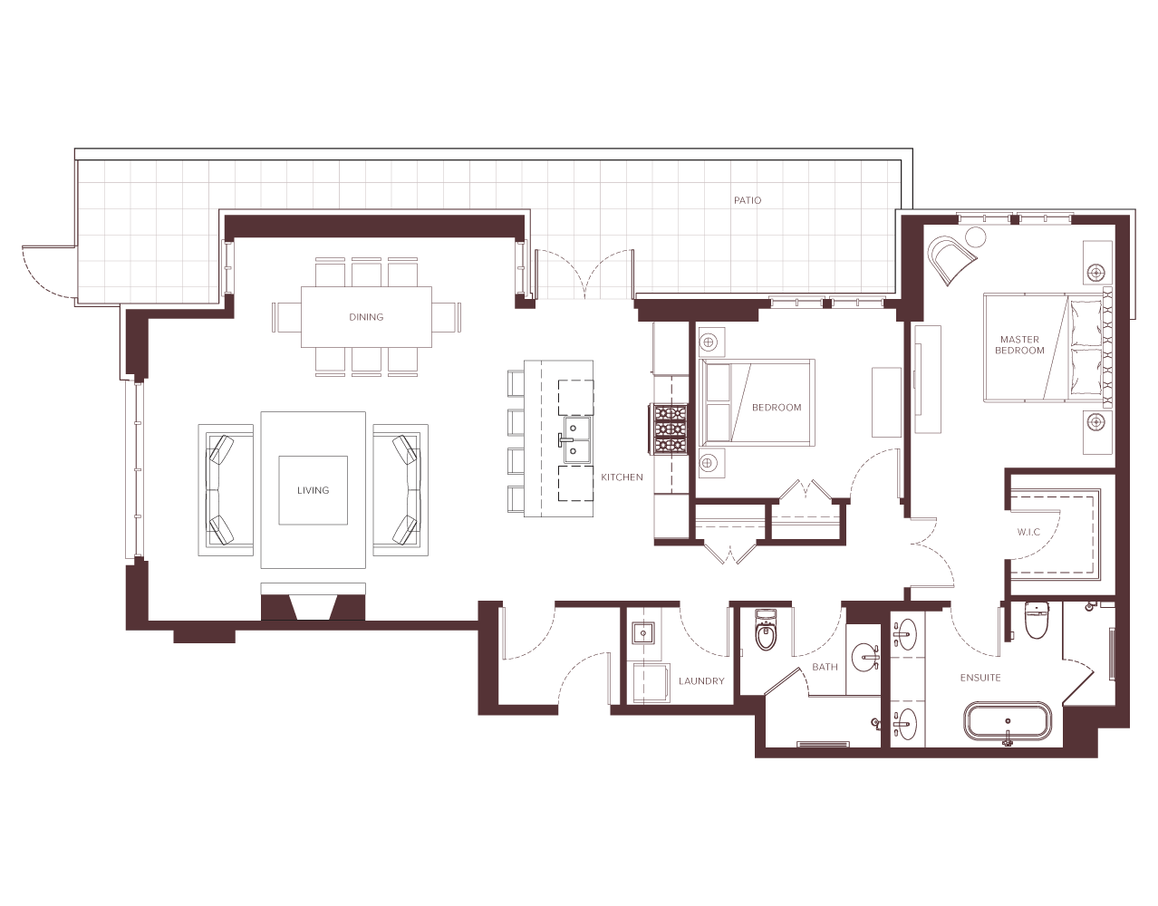 Chateau Laurier 2-bedroom floorplan