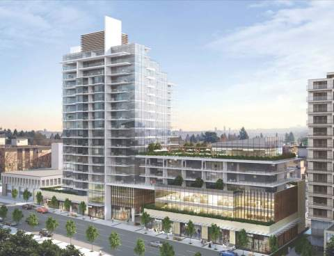 Artist Rendering Of Millennium Development Group's Proposed Project At 123-145 East 13th Street, North Vancouver.