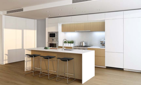 1555 West 8th Kitchen Rendering Mike Stewart Vancouver Realtor