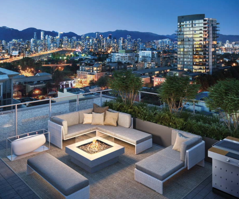 1555 West 8th Rooftop Deck Rendering Mike Stewart Vancouver Realtor
