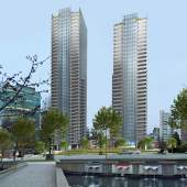 Artist concept of the 1616 West Georgia redevelopment by Shato Holdings.
