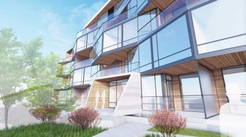 Entrance Detail For Winona On Cambie Vancouver Luxury Condo Development.