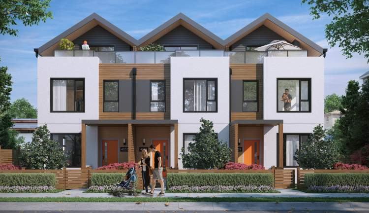 Artist rendering of Earl, the latest Vancouver townhouse project by Vicini Homes.