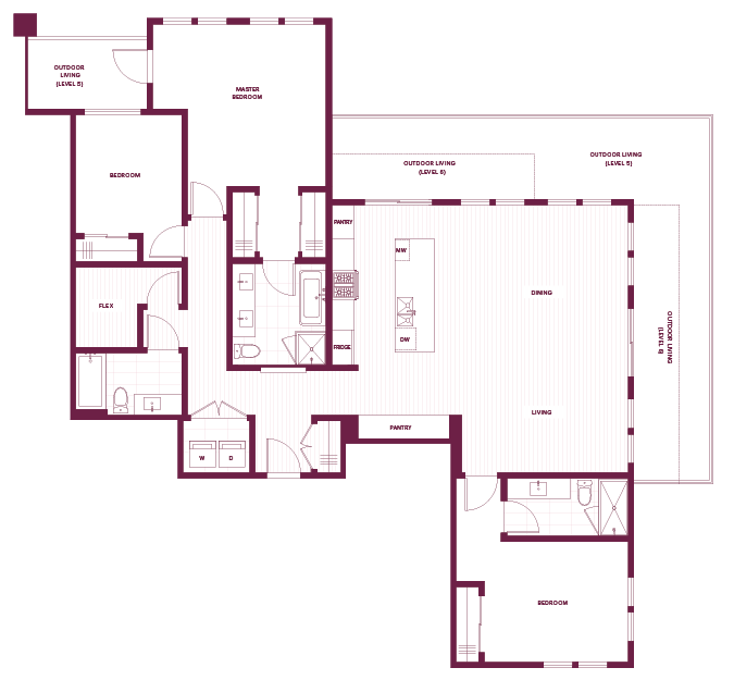 Cambria Park 3-Bedroom & Den M Floor Plan.