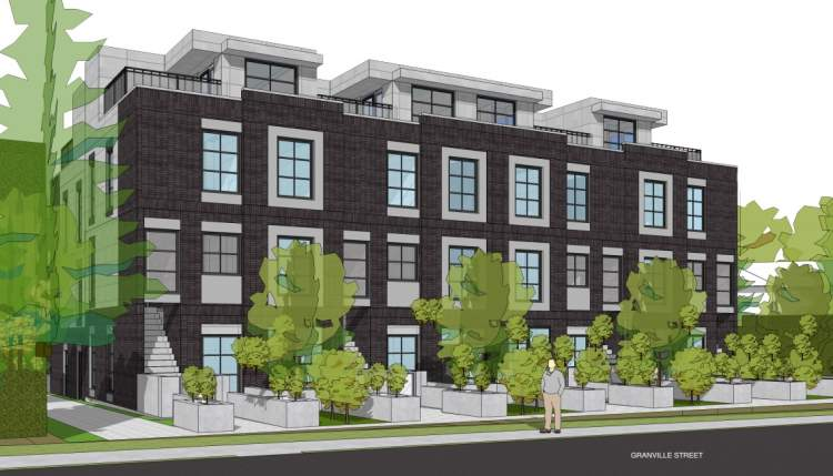 Proposed Shaughnessy townhouse development at Granville & 29th.
