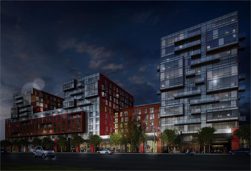 900 Hastings Night Rendering Mike Stewart
