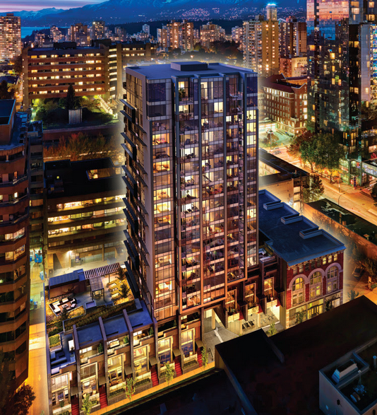 Addition Vancouver Presale Condo Night Rendering Mike Stewart
