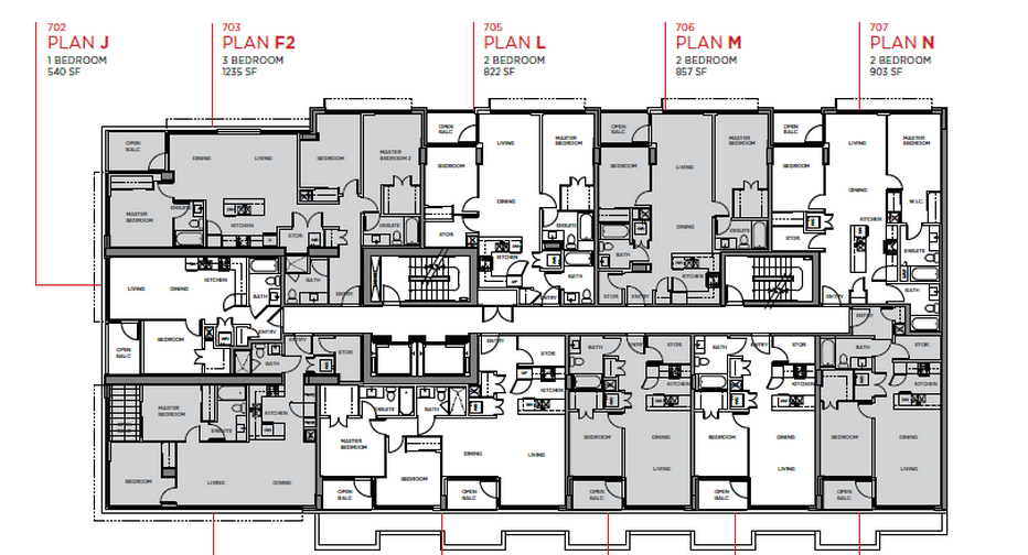 Cambie Star Floor Plans