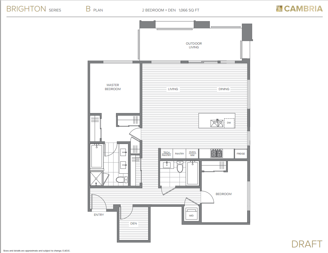 Cambria Mosaic Brighton Series Floor Plan B