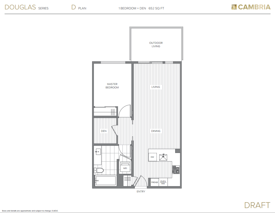 Cambria Mosaic Brighton Series Floor Plan D