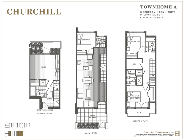 Churchill Townhome Floor Plan A Mike Stewart Vancouver Realtor