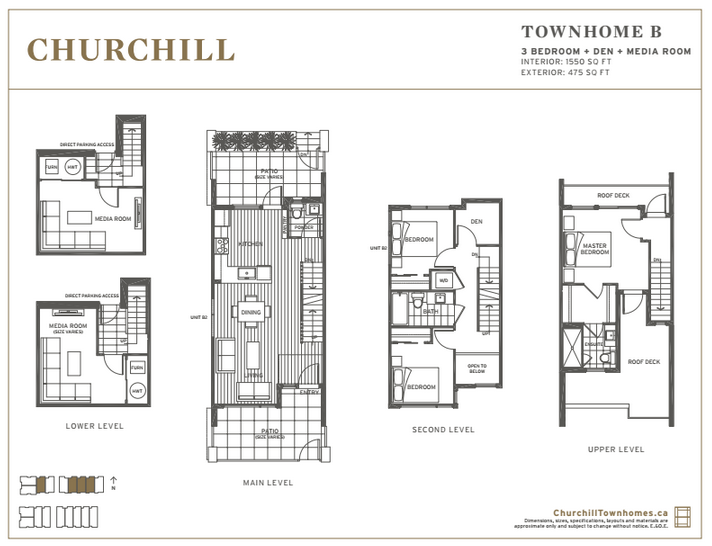 Churchill Townhome Floor Plan B Mike Stewart Vancouver Realtor