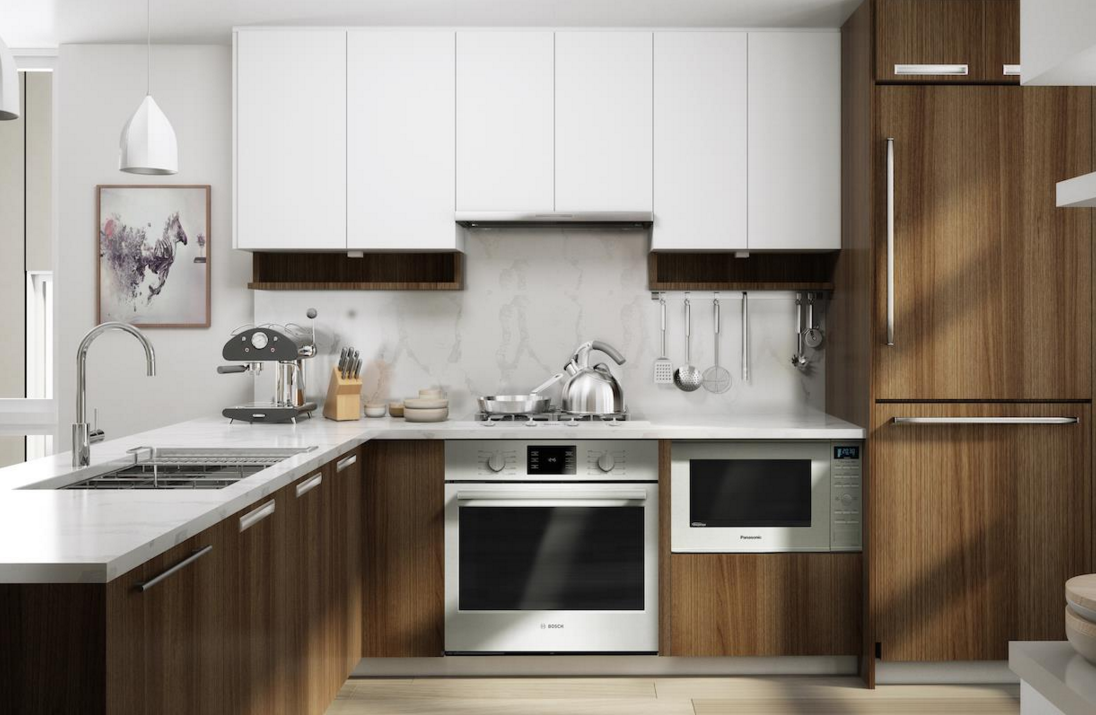 Churchill Townhome Kitchen Rendering Mike Stewart Vancouver Realtor