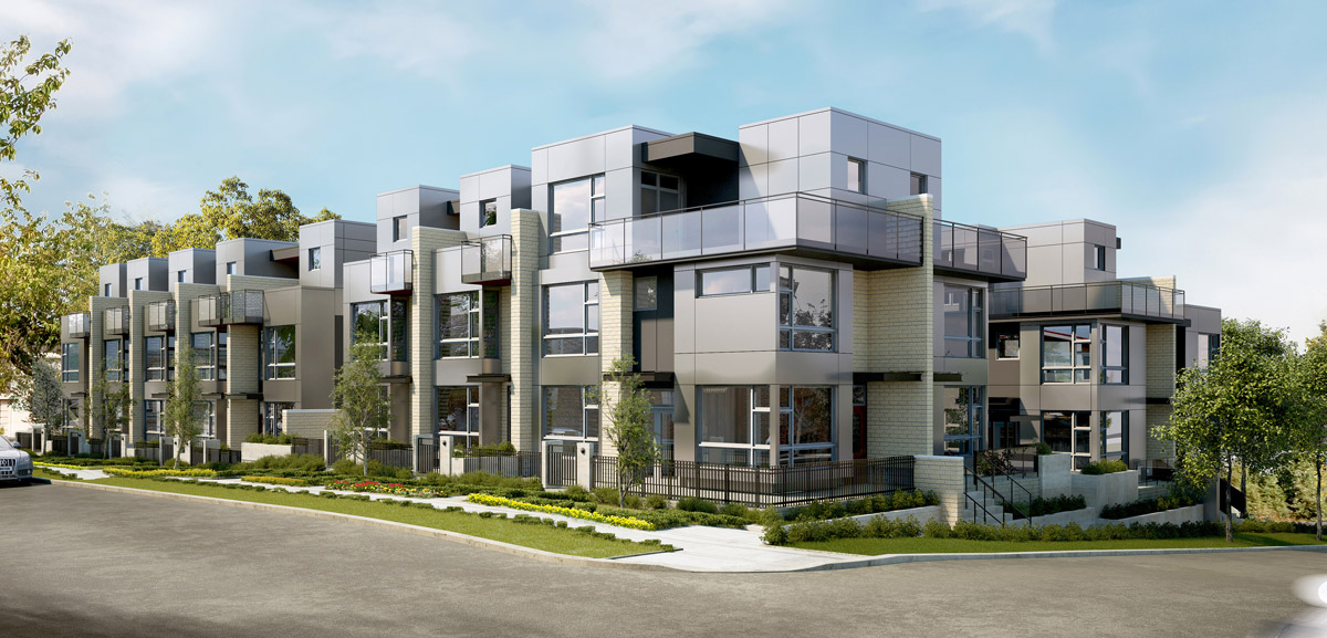Churchill Townhomes Exterior Rendering Mike Stewart Vancouver Realtor