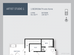 Eleven West artist studio floor plan 1.