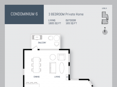 Eleven West condo floor plan 6.