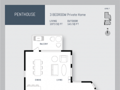 Eleven West penthouse floor plan.
