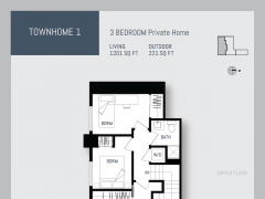 Eleven West townhouse floor plan 1.