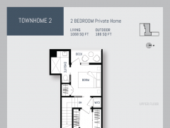 Eleven West townhouse floor plan 2.
