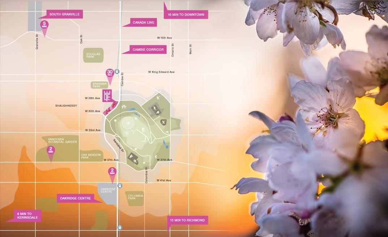 Empire at QE Park Map
