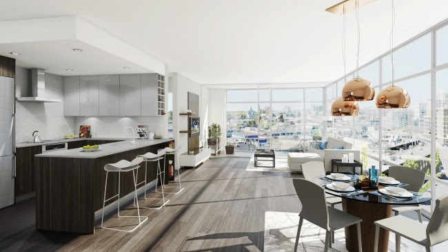 Epic at West Interior Rendering Mike Stewart Vancouver Realtor