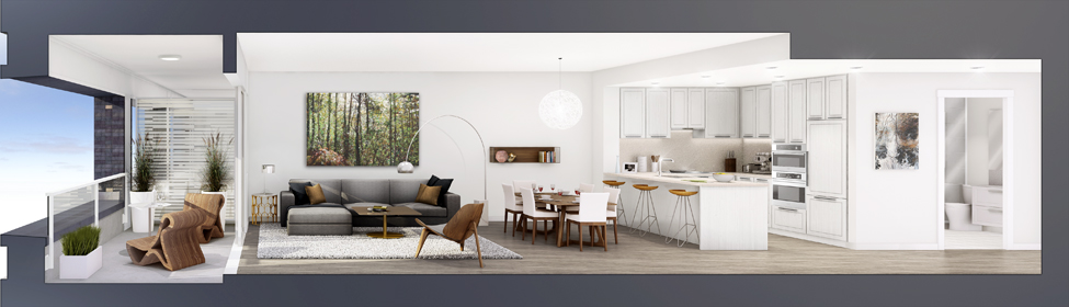 Interior Rendering Cambria Presale Condo Mike Stewart