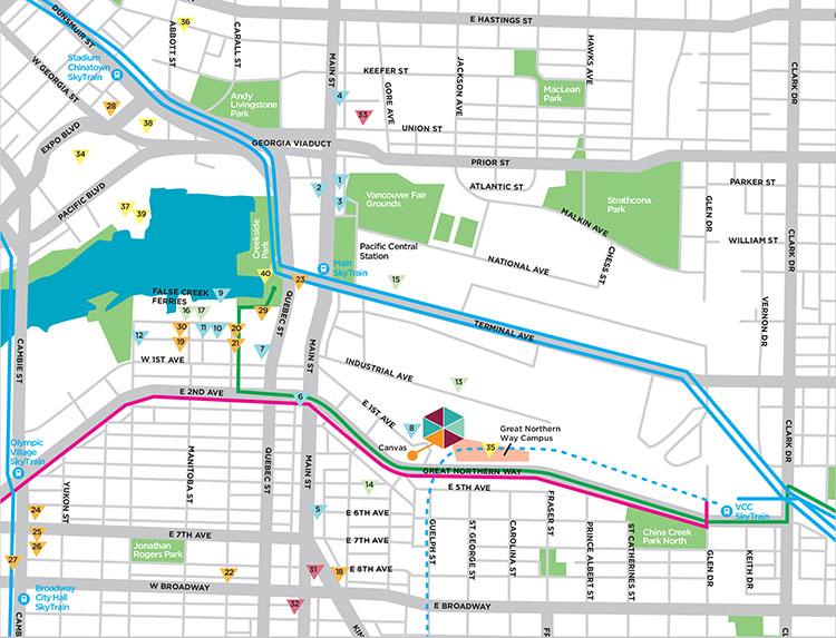 Location Map Canvas