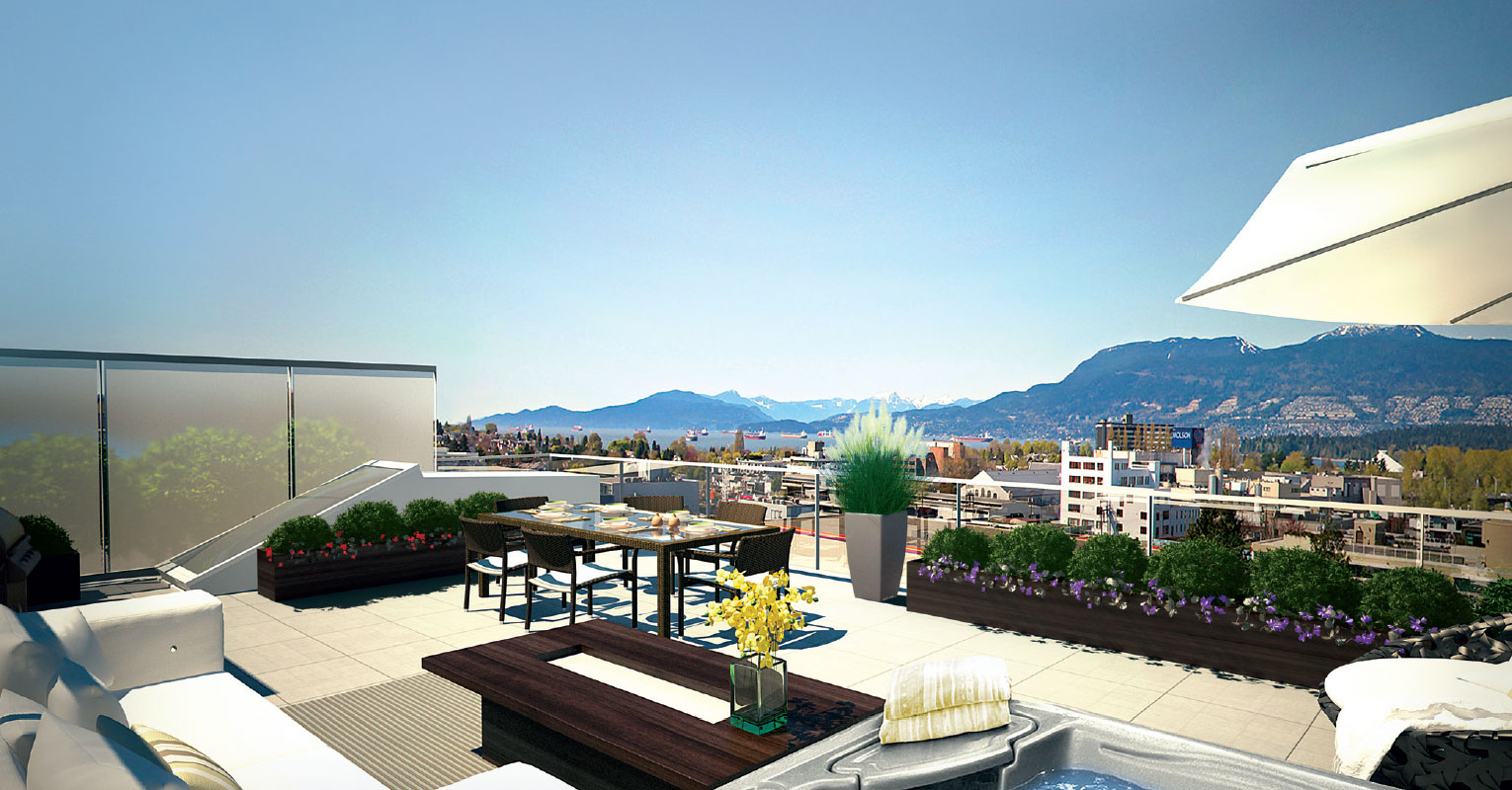 Radius Vancouver Roof Top Deck Mike Stewart