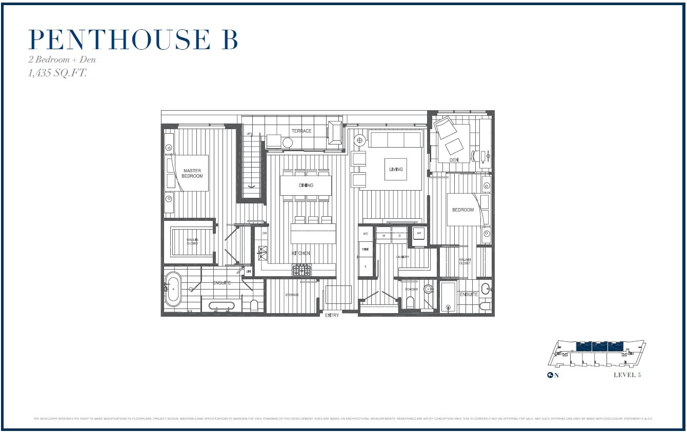 Sterling by Cressey Penthouse B Floor Plans