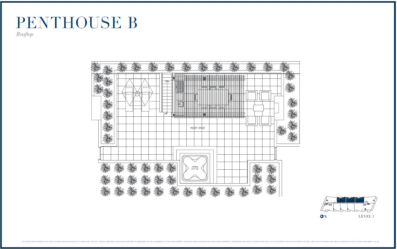 Sterling by Cressey Penthouse B Rooftop Floor Plans