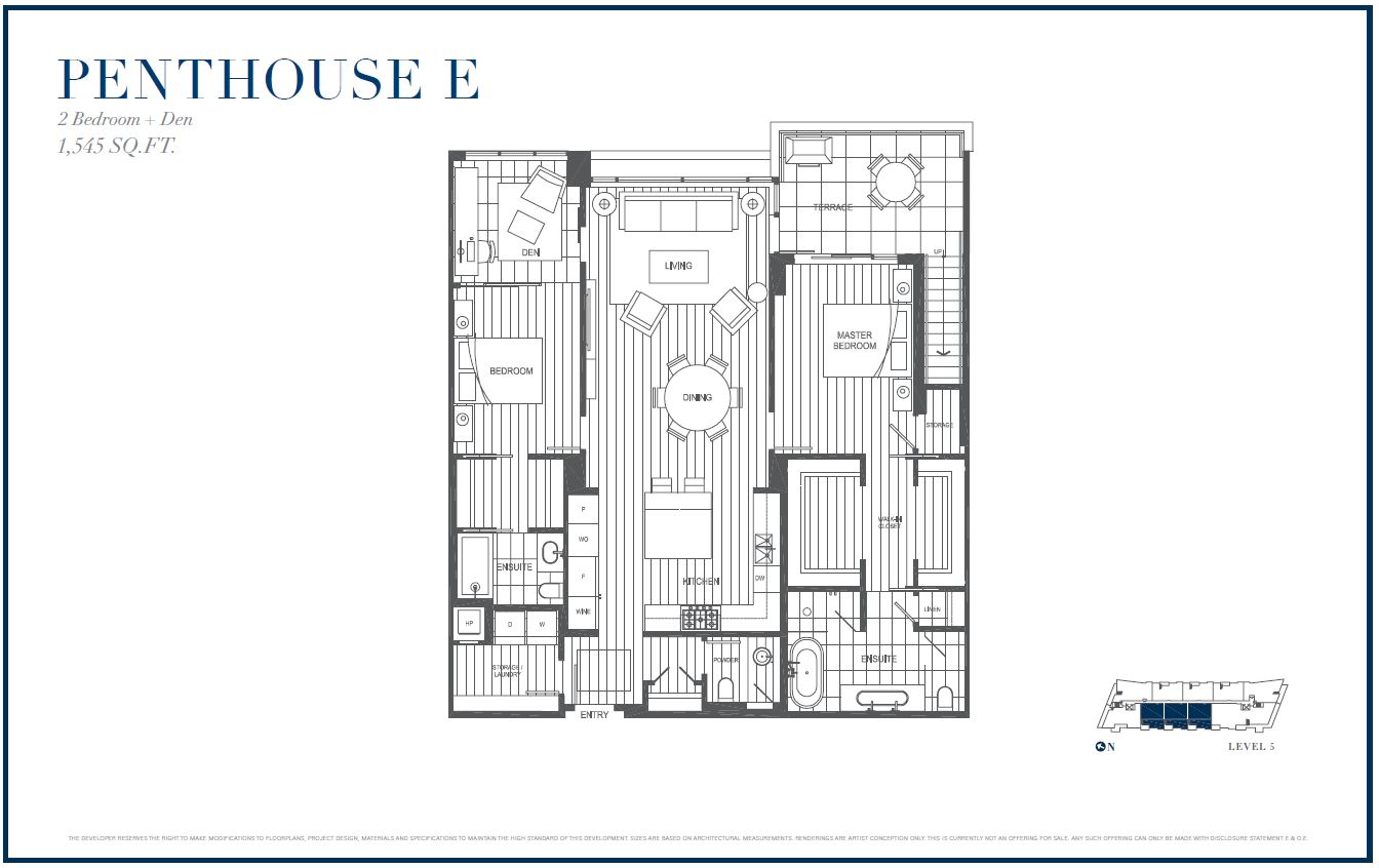 Sterling by Cressey Penthouse E Floor Plans