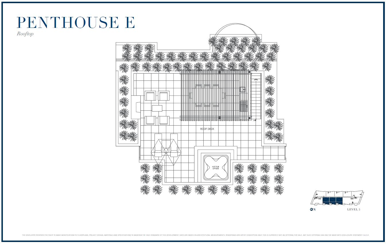 Sterling by Cressey Penthouse E Rooftop Floor Plans