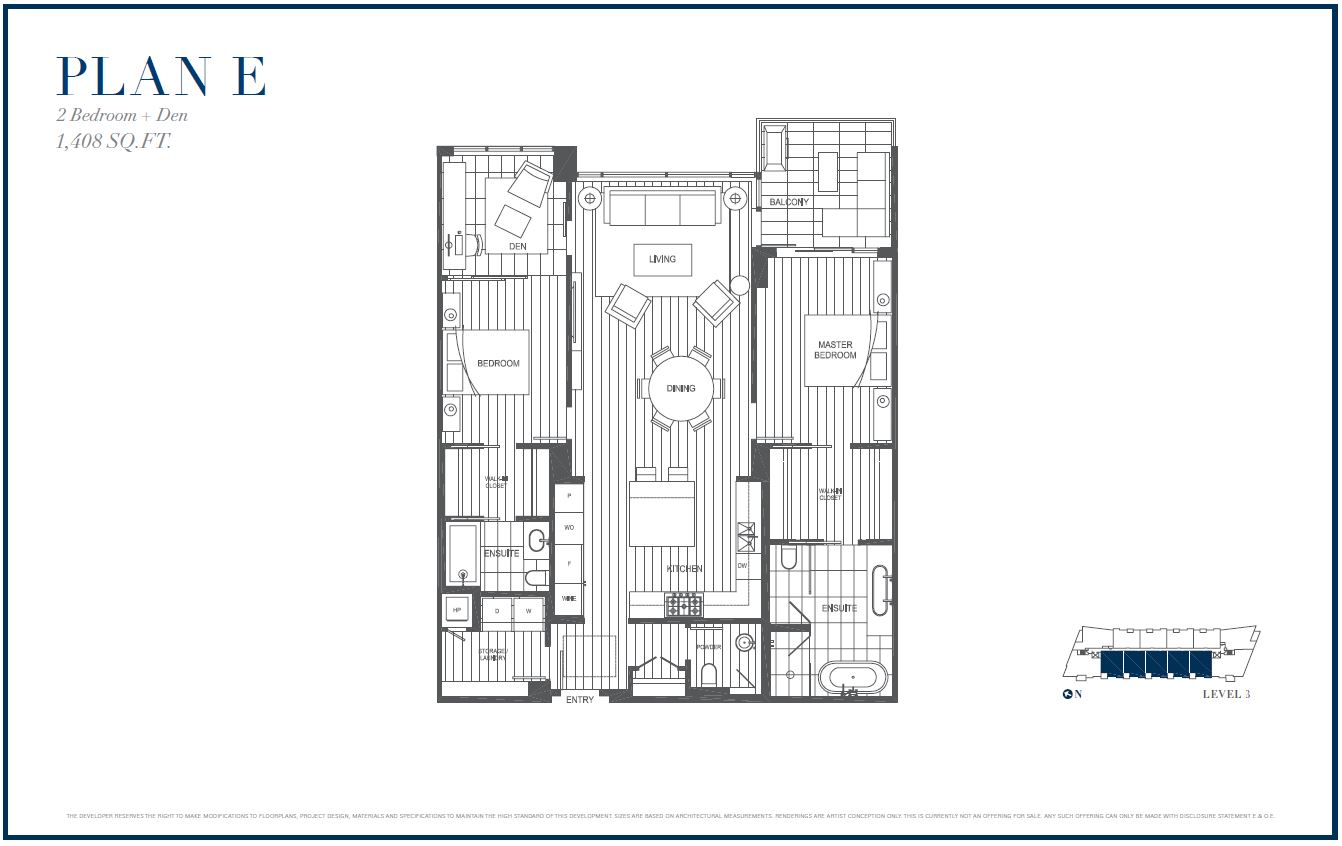 Sterling by Cressey Plan E 2 Level 3Floor Plans