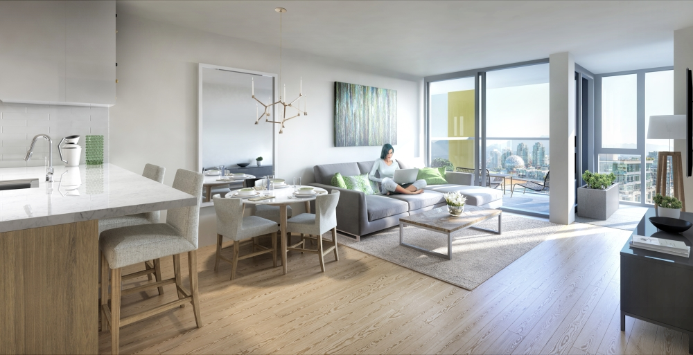 TOwer Green Interior Rendering Mike Stewart Vancouver New COndos