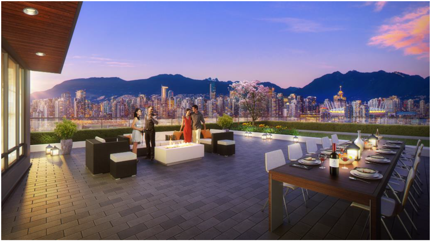The Spot Vancouver at Cambie & 12th Rooftop Deck Rendering Presale Condo Mike Stewart