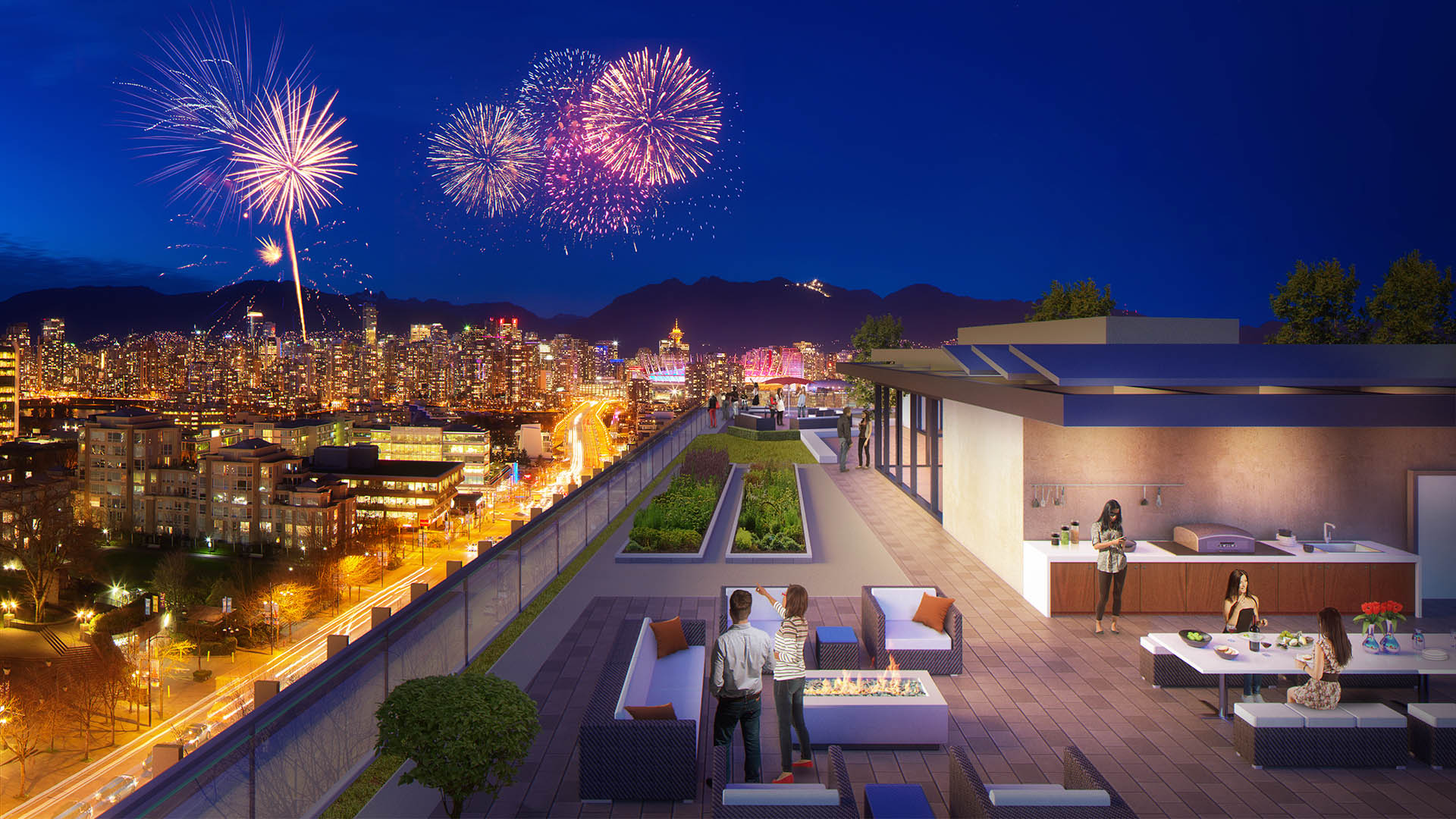 The Spot on Cambie Rooftop Deck Rendering Mike Stewart Vancouver Presale Realtor 1