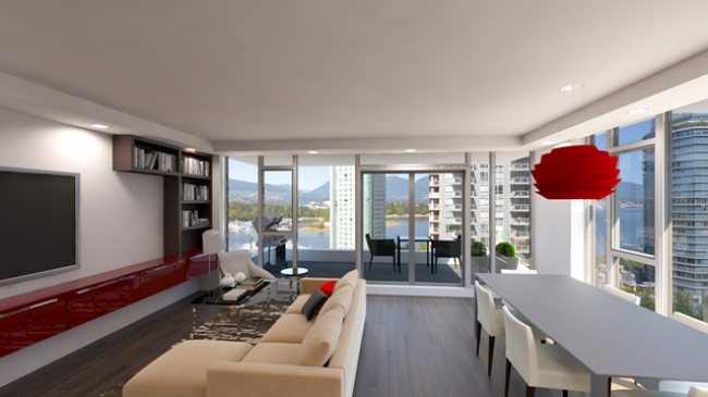 The Views at Coal Harbour Interior Rendering Mike Stewart